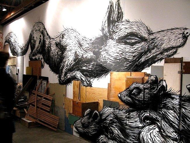 Выставка Roa в Лос-Анджелесе