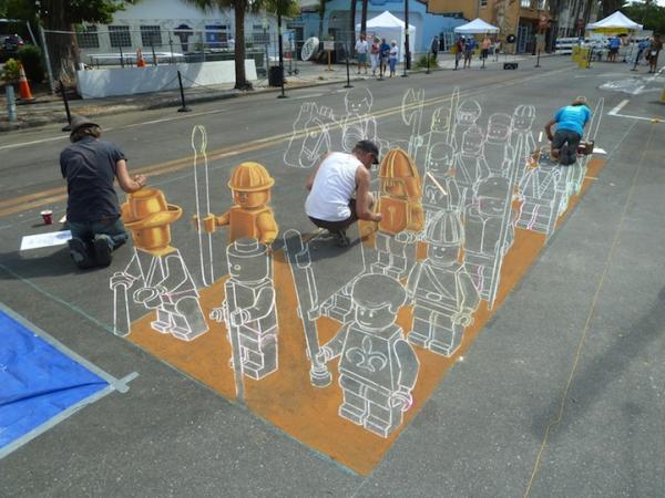 Лего 3D граффити