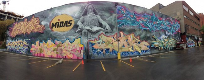 Граффити в Торонто: Keele Wall Mural