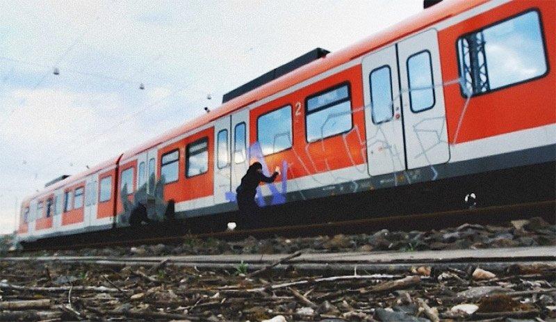 Видео: Трейн-райтинг в Кёльне