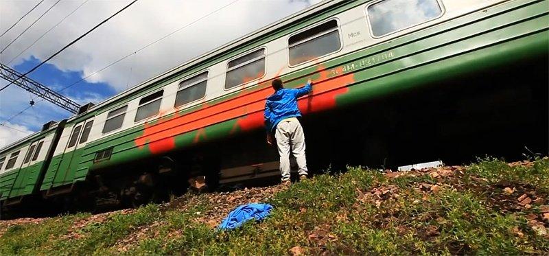 Видео: DUPS рисуют в Москве (2013)