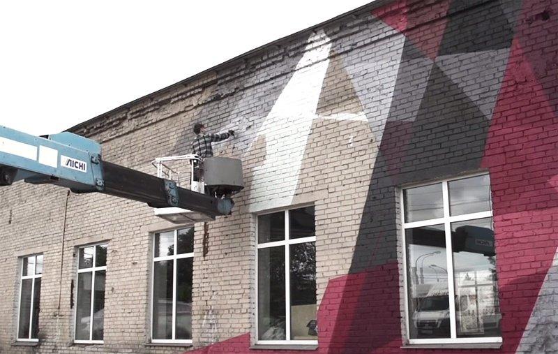 Видео: WAIS рисует в Санкт-Петербурге