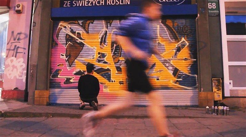 Видео: RIAM рисует на улице