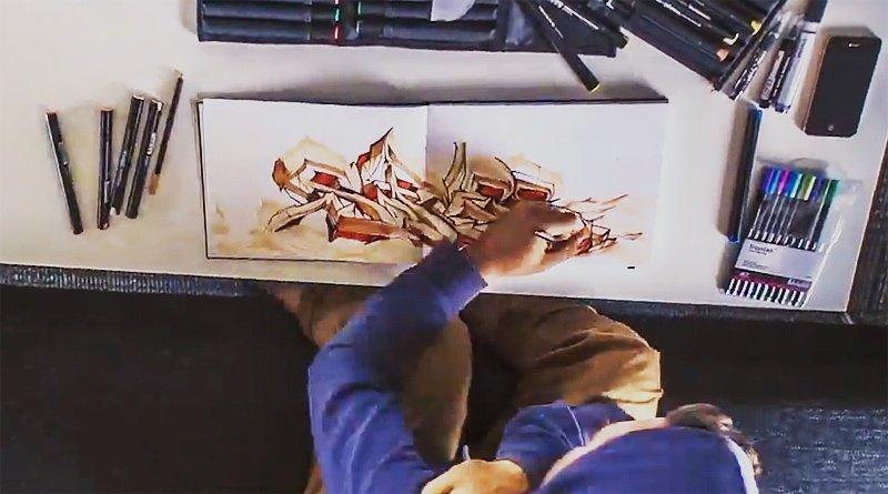Видео: SOFLES рисует скетч