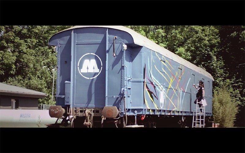 Видео: MadC рисует на вагоне Molotow