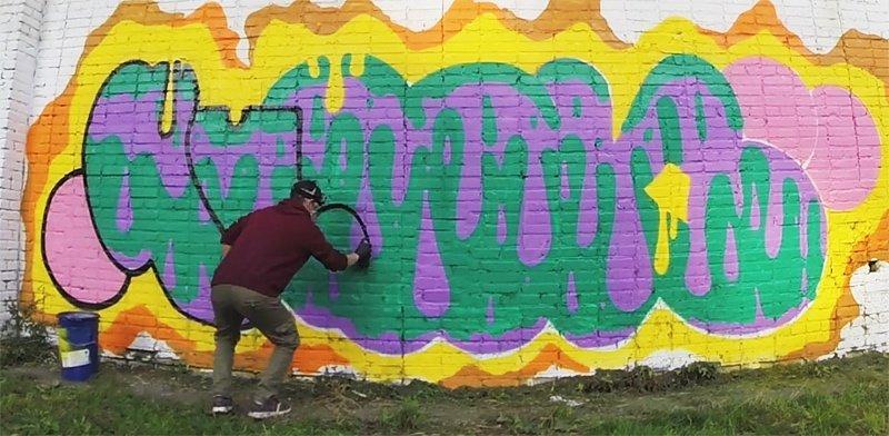 Видео: ЧИРОК (SG) рисует в Москве