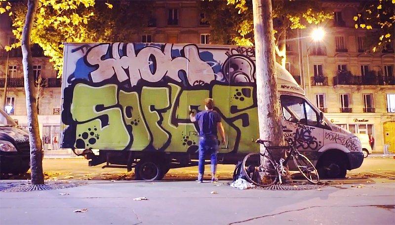 Видео: SOFLES рисует в Париже