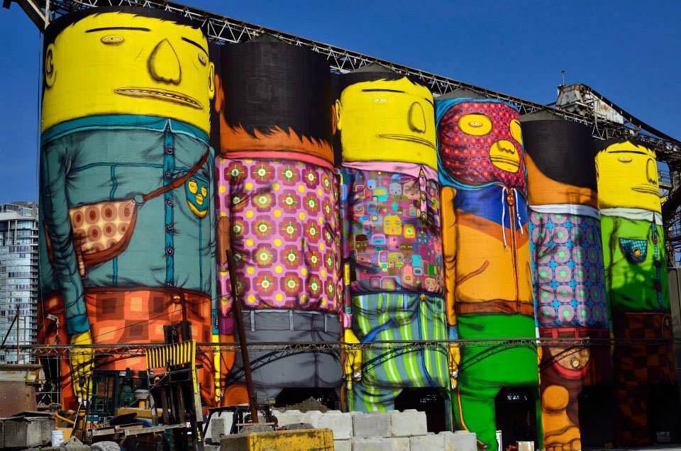 Масштабные граффити: Os Gemeos