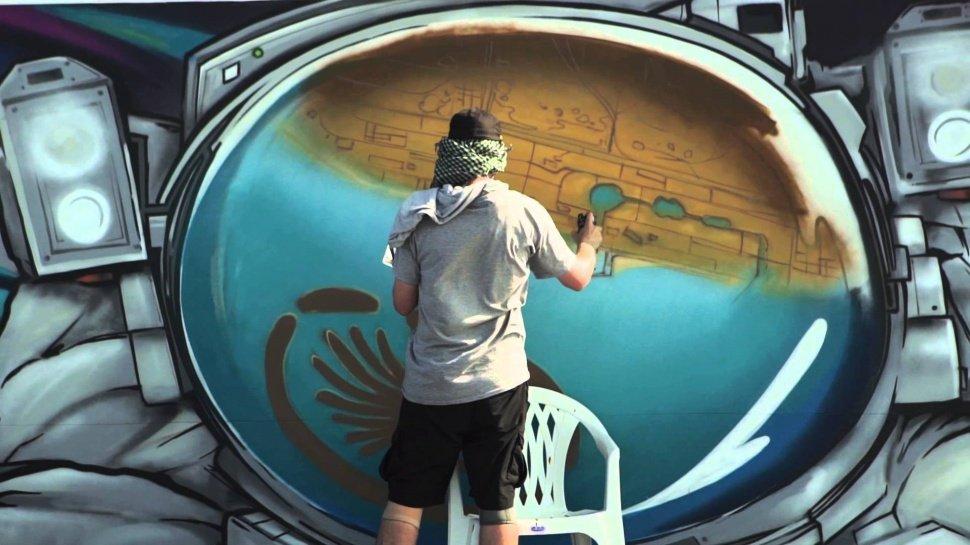 Видео: Самая длинная граффити стена в Дубаи