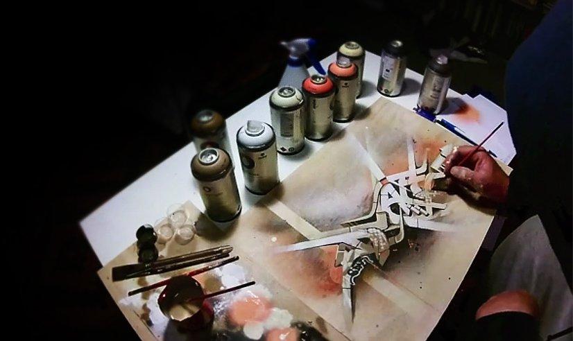 Видео: DVATE рисует холсты