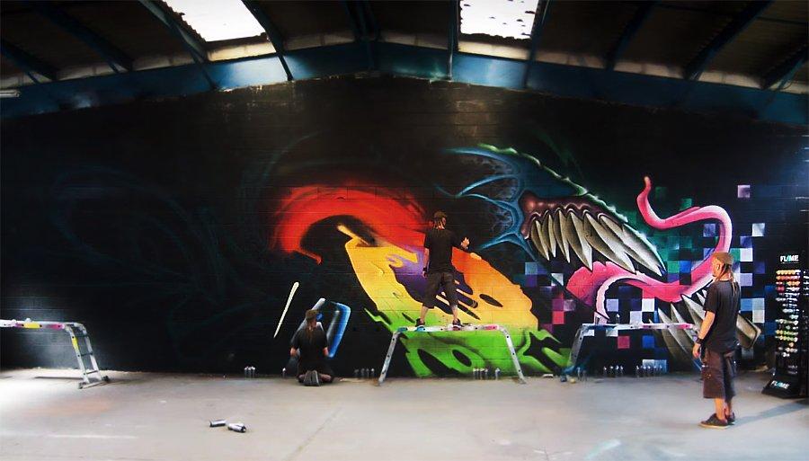 Видео: Graffiti Session USE THEM (W)ALL