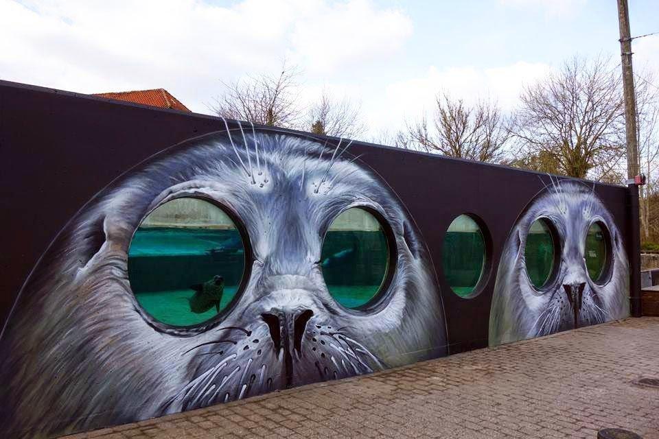 Граффити от TASSO в зоопарке Дании