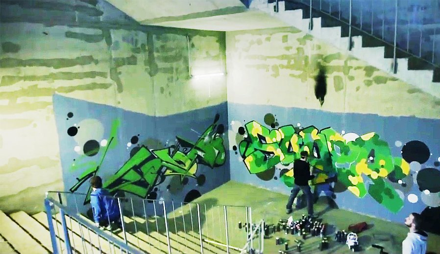 Граффити от TRUN и SUPER