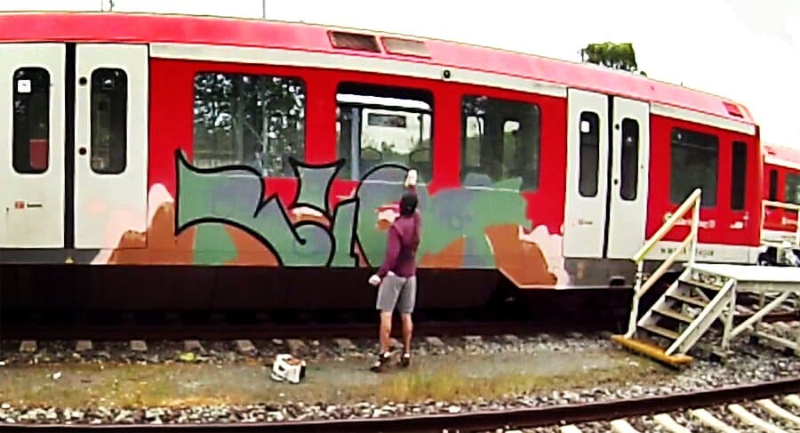 Граффити на поездах в Гамбурге # 2