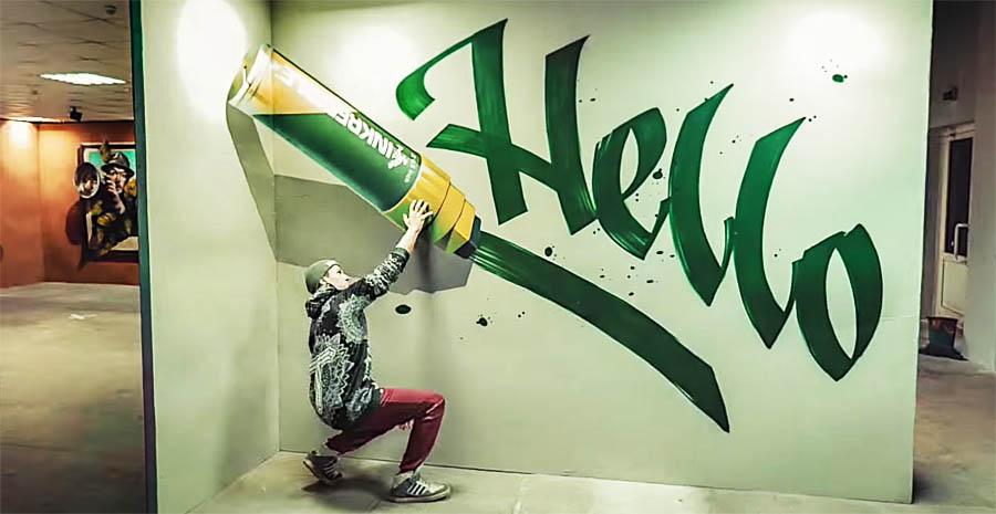 3D-граффити от Jovanny, Basil и Fans