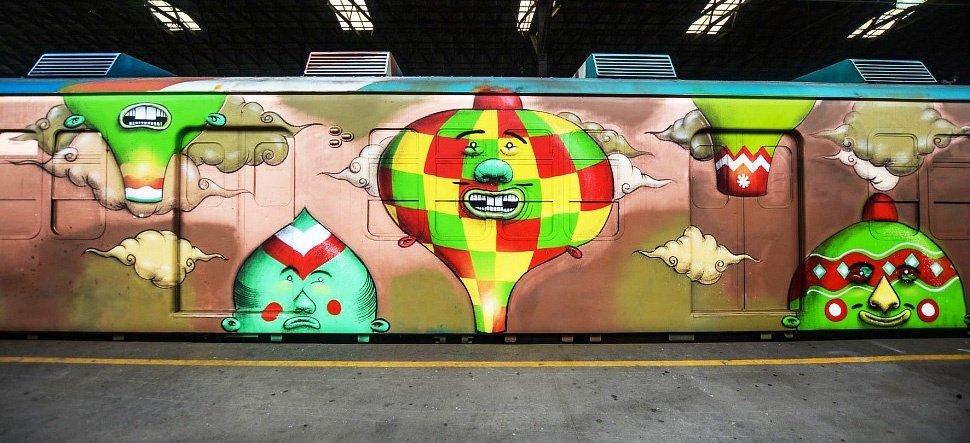 Арт-поезд OS GEMEOS & VLOK CREW