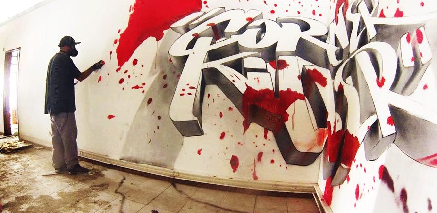 ODEITH – Анаморфное 3D граффити