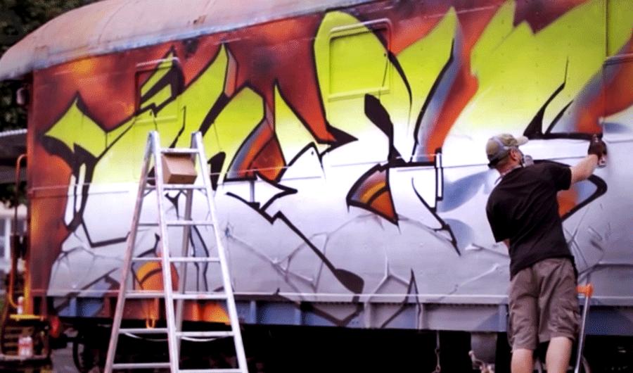 Граффити на вагоне от GESER