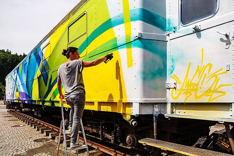 Граффити на вагоне – MADC