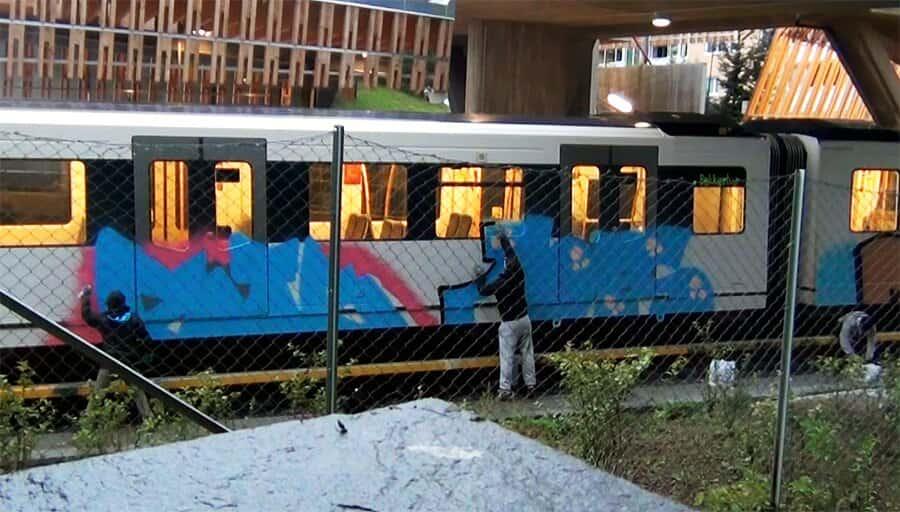 Oslo subways and trains