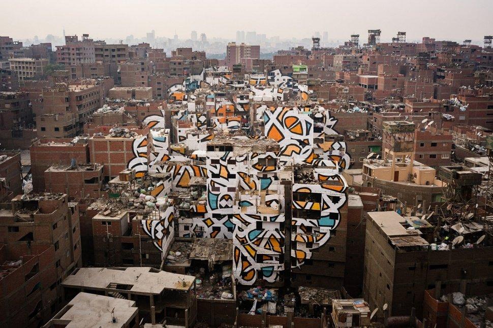 Каллиграффити на 50 домах в Египте