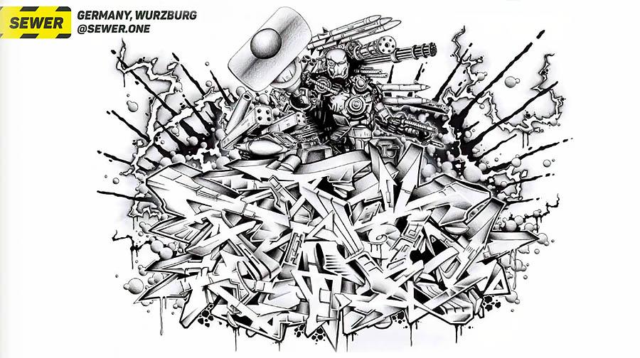 Graffiti sketchbook online: №3