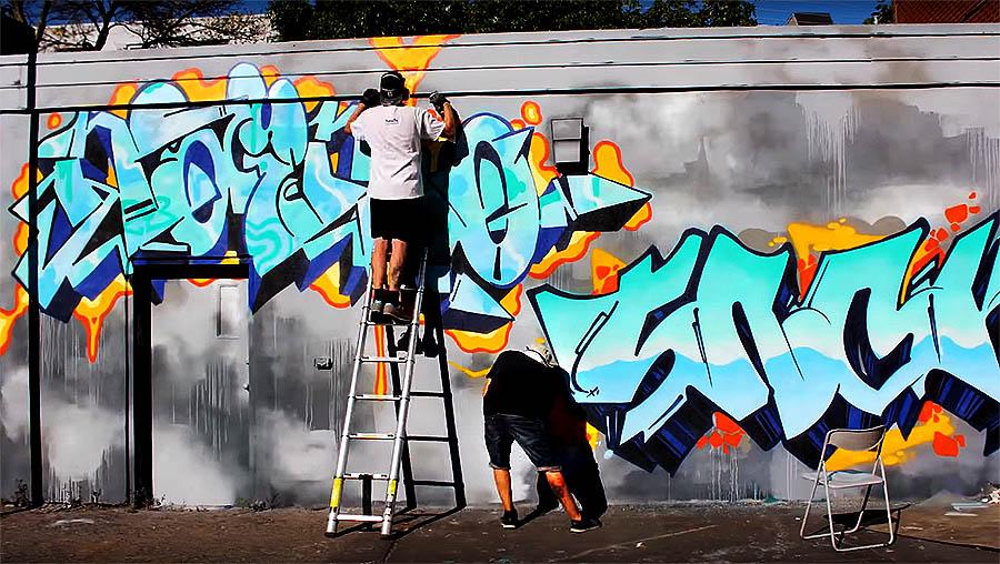 Graffiti Session: SNOK & NAIMO