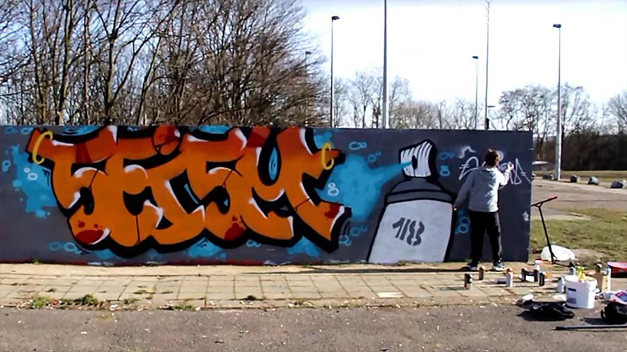 SEISM SPRAYDAY#1 | GRAFFITI ON WALL IN COINTE