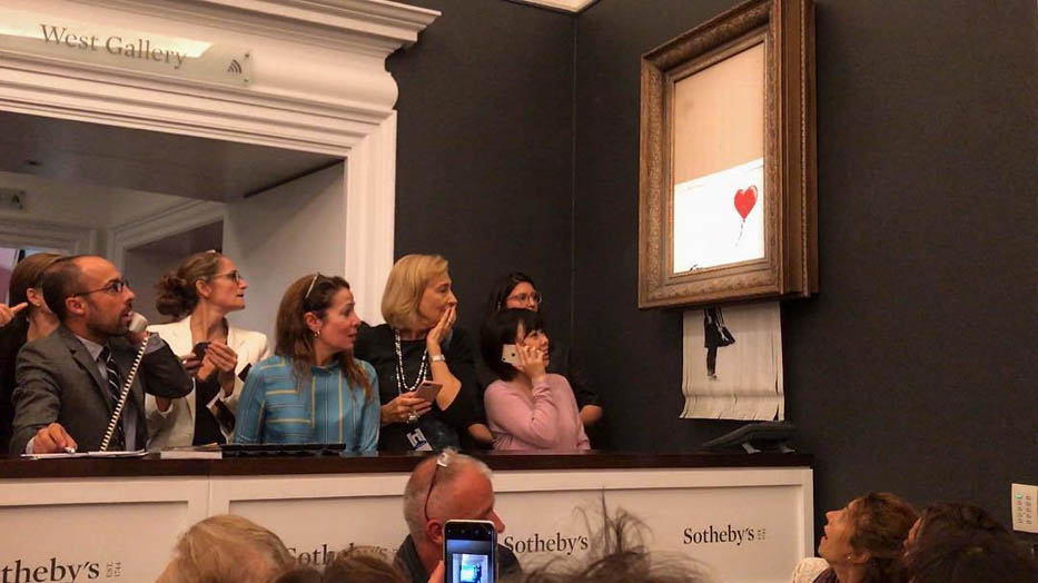 Аукцион Sotheby's. Картина Бэнкси