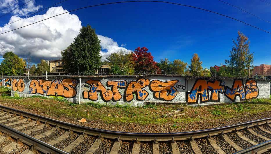 Работы граффити в Петербурге #1