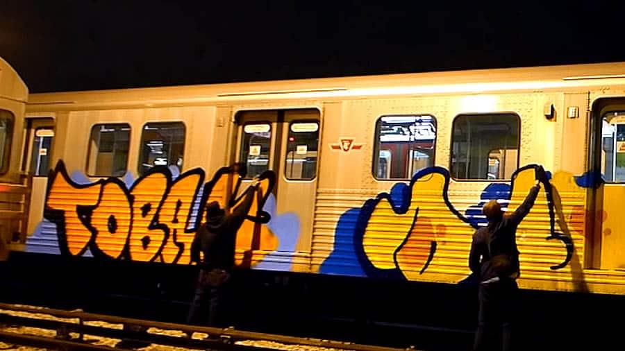 DART | Train graffiti