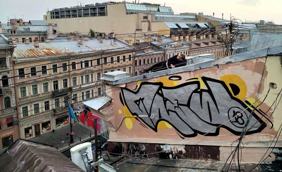 Работы граффити в Петербурге #2