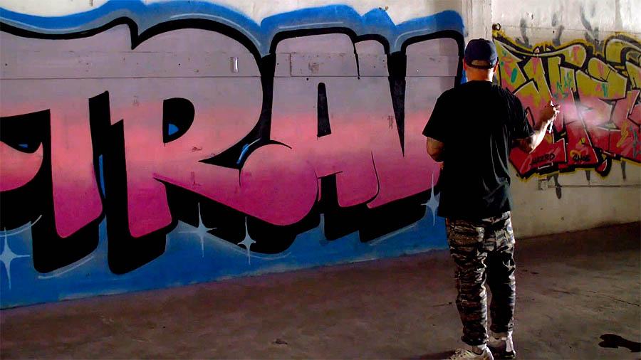 Graffiti Session: Begr & Trav
