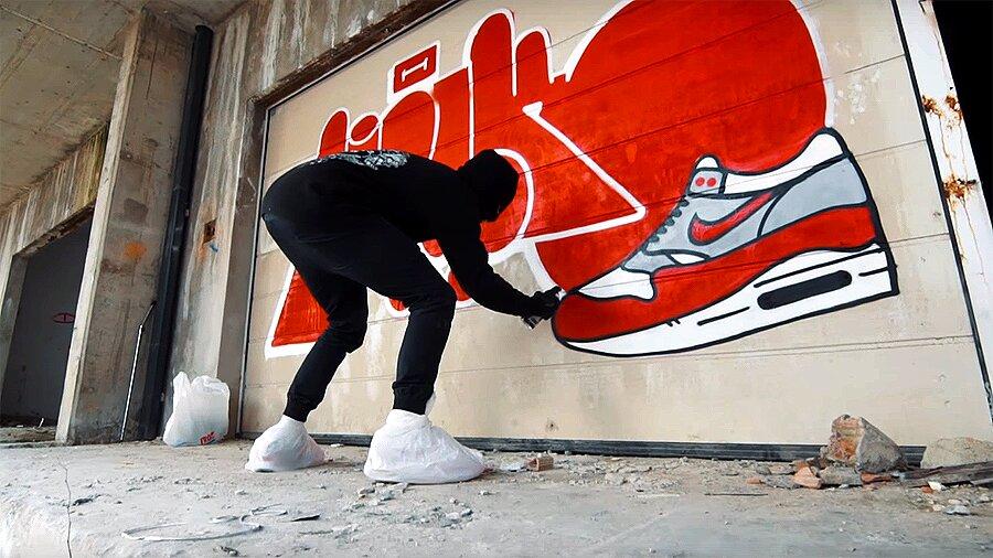 Graffiti RAW SHOT #3-4 WALK & OBESR |  Throw up