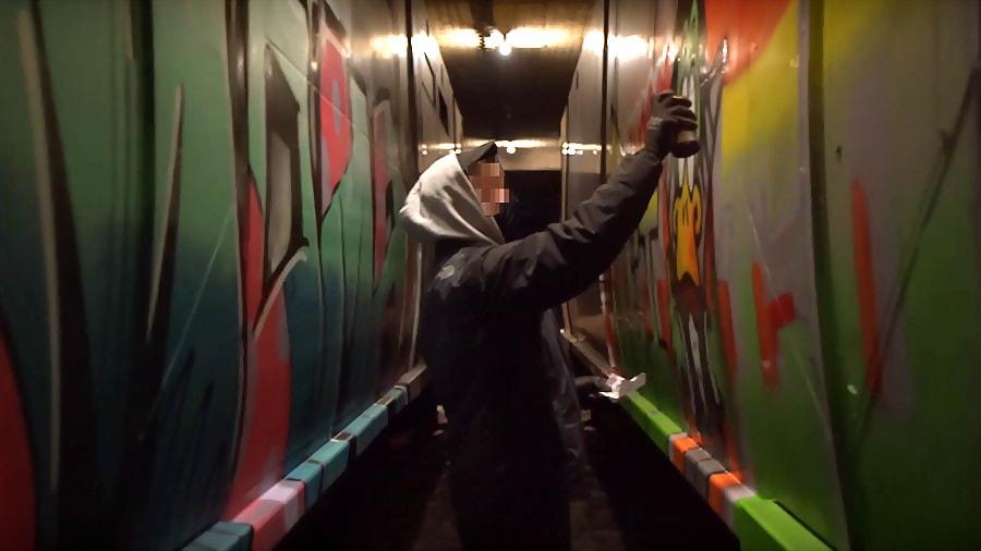 Jeico & Noak paint Berlin Subway