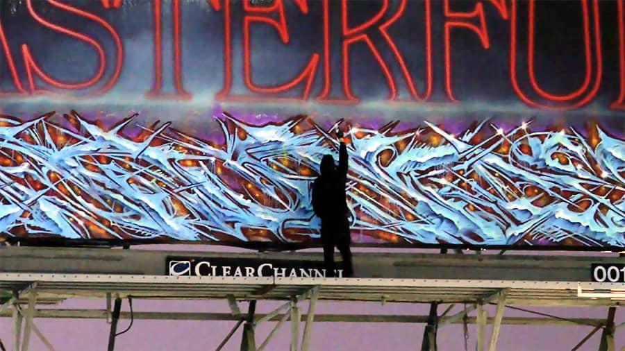 Saute | Billboard graffiti