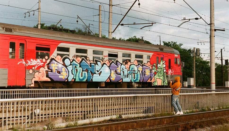 Работы граффити в Петербурге #3