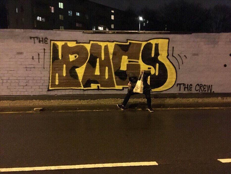 Работы граффити в Петербурге #7
