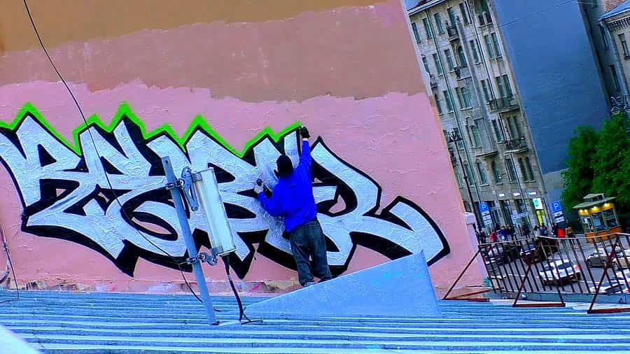 Rebel style   RoofTop Graffiti Bombing