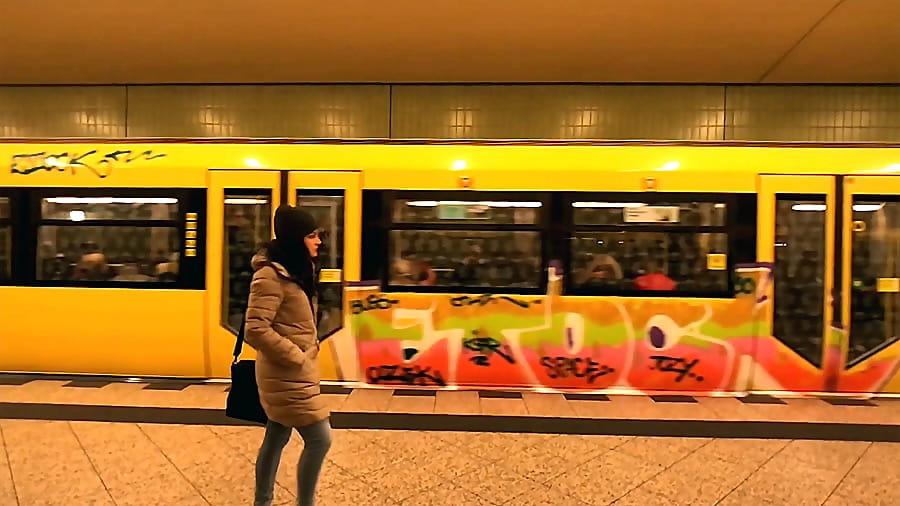 Graffiti on the Berlin U Bhan #1-2