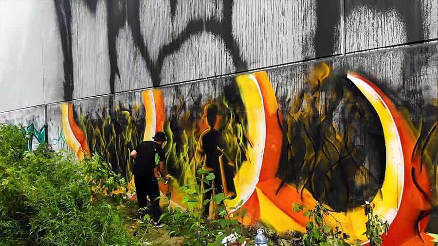 Graffiti Session: VEW – Hybrid piece