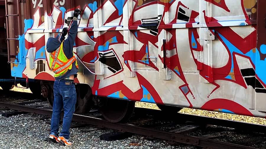 Freight Train Graffiti | KEEP6 & MILES