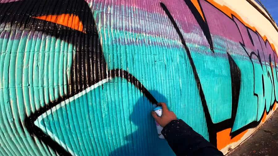 Singleplayer graffiti tagging & wall with Mayze part3
