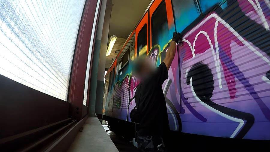 NSK NR4T Crews: Athens Subway Graffiti