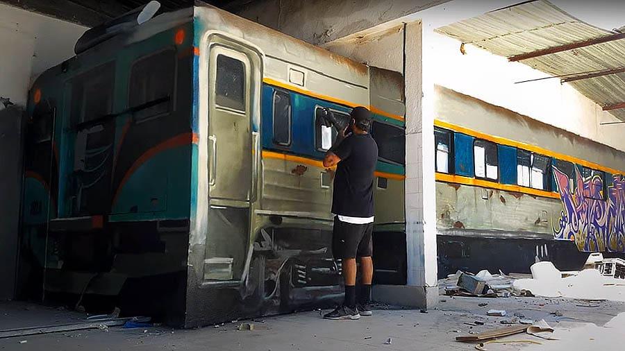 Odeith превратил стену в вагон поезда