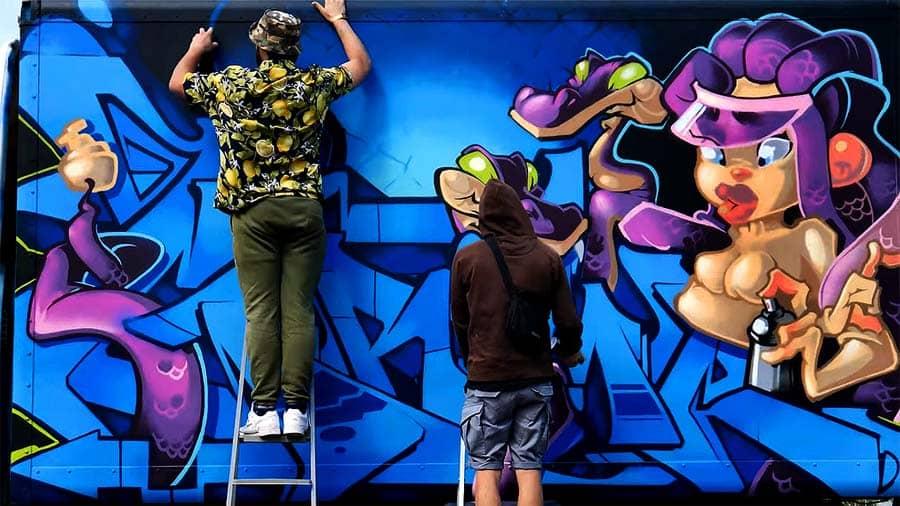 GRIME x ZMEY | GRAFFITI ON TRUCK