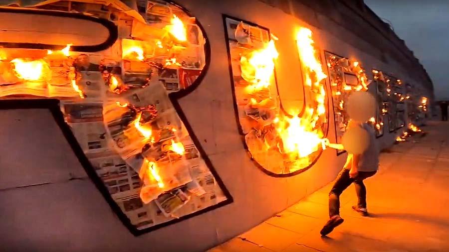 RUBAE x SHABE | Graffiti in Fire