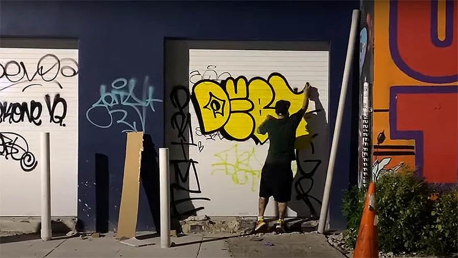 Graffiti Session: DEBT Money in Miami