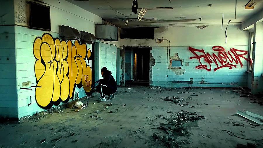 AMUR91   Throw ups & tags Abandoned area