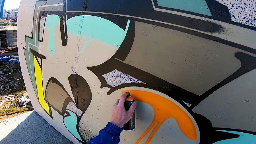 Dima Retro | Full graffiti process